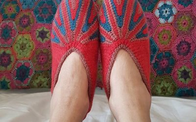Customised crochet cushions, slippers and throws – locally made and dyed