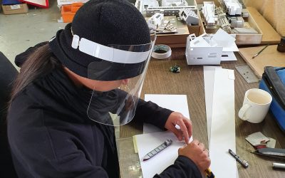 Strong face shield, designed and made locally